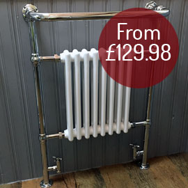 Large traditional shower rail