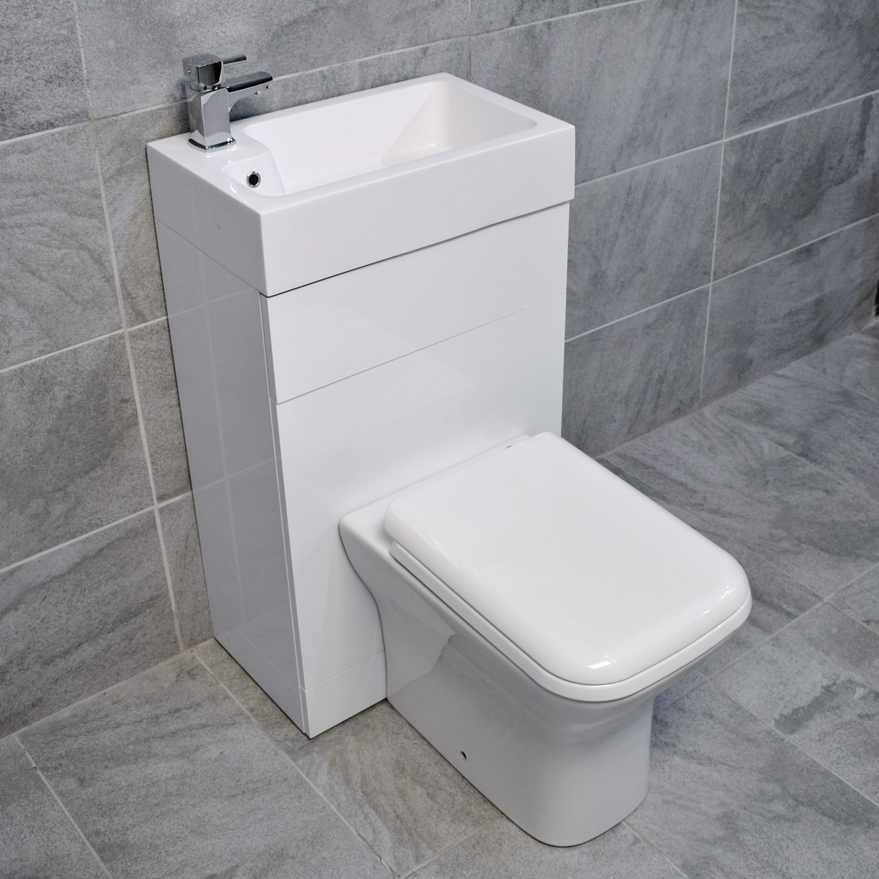 All In One Space Saving Toilet Sink Basin Combination Unit