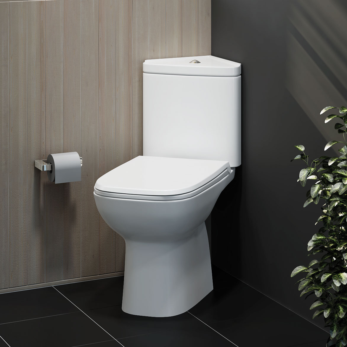 Rak origin corner toilet space saving soft close seat cloakroom close coupled tewp - What is the meaning of commode ...