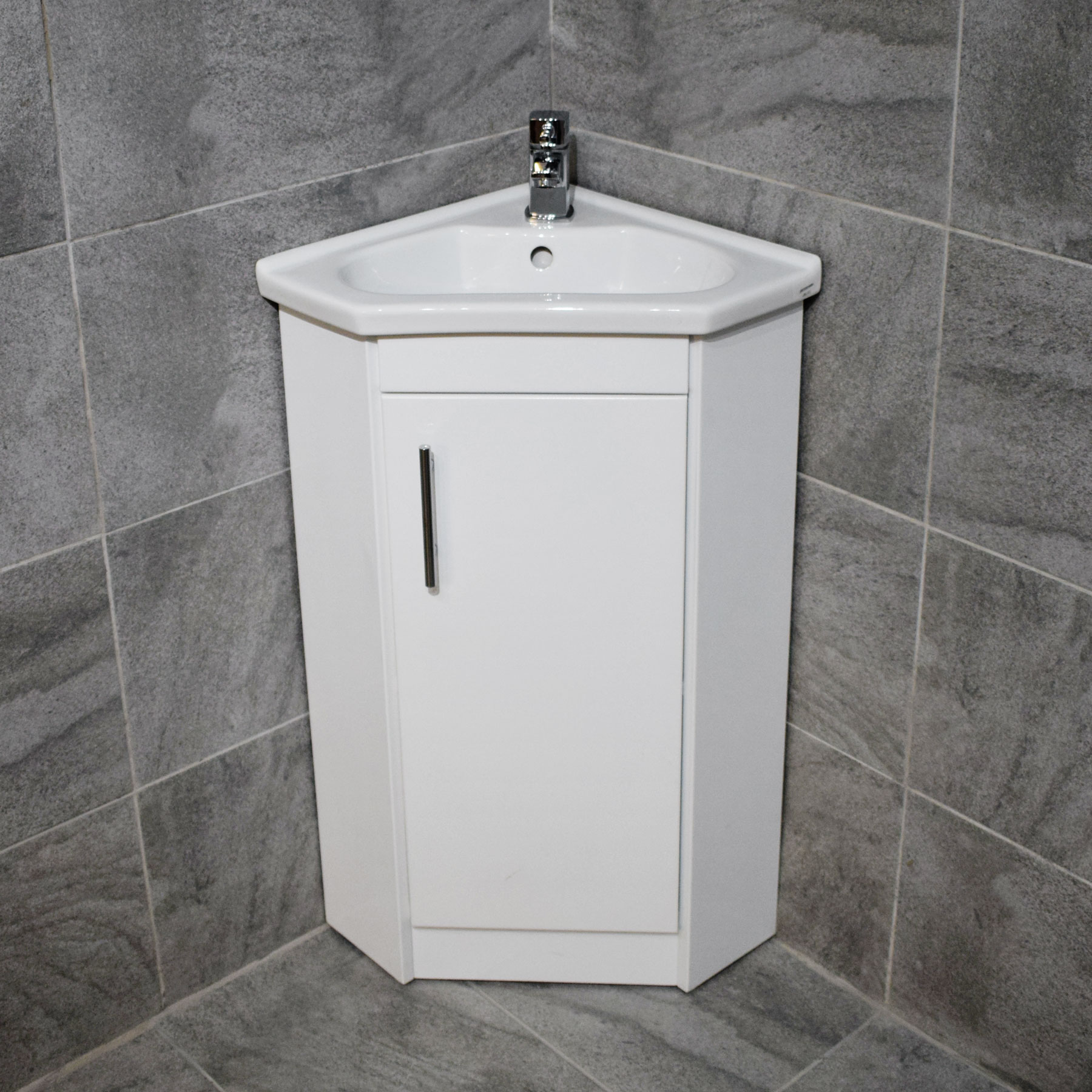 white corner bathroom unit corner vanity unit including basin sink white gloss 21516