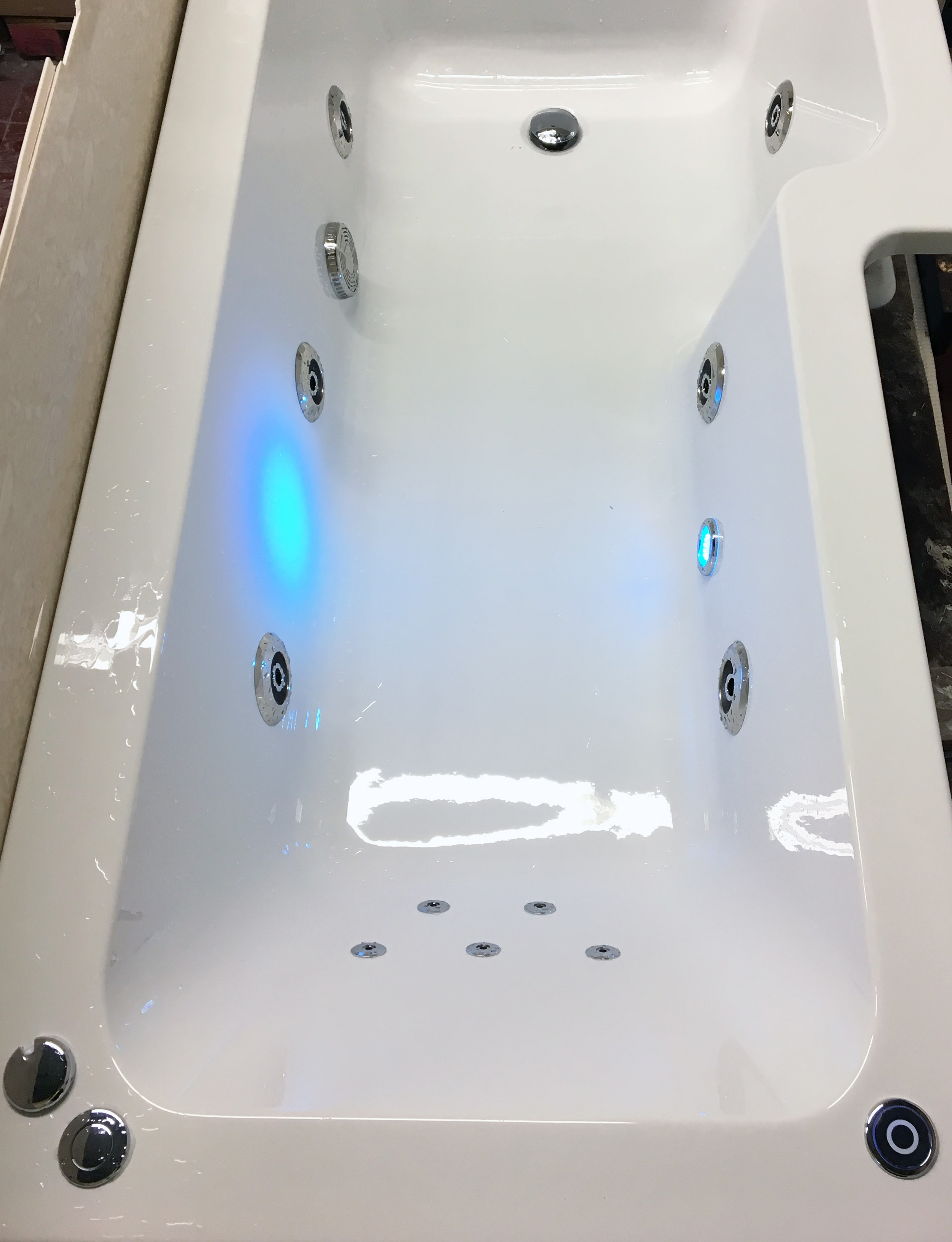 1500, 1600 or 1700mm Whirlpool Jacuzzi Type Acrylic Spa Bath with ...