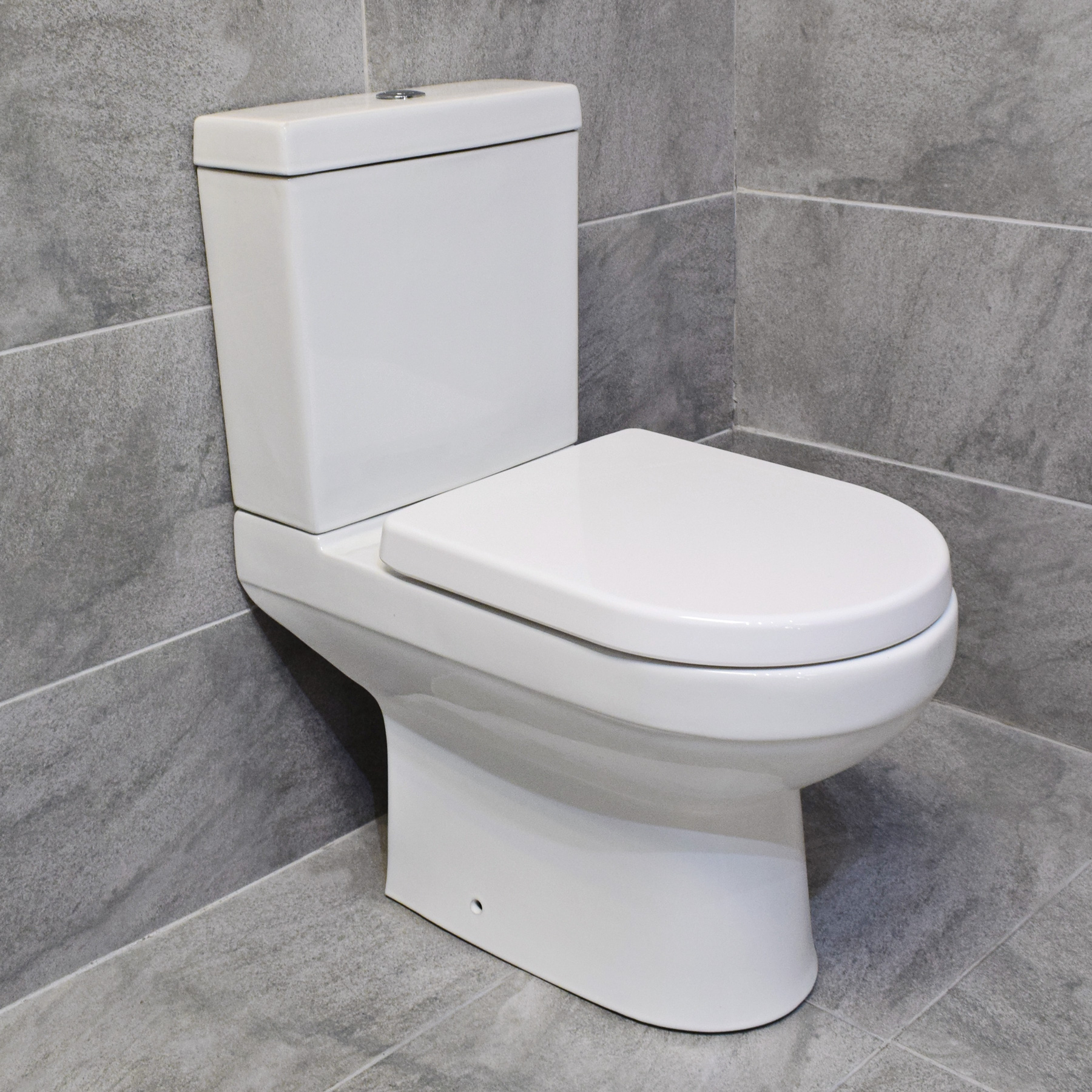 Hydros Charlie Close Coupled Toilet Modern WC + Fixing Kit | eBay