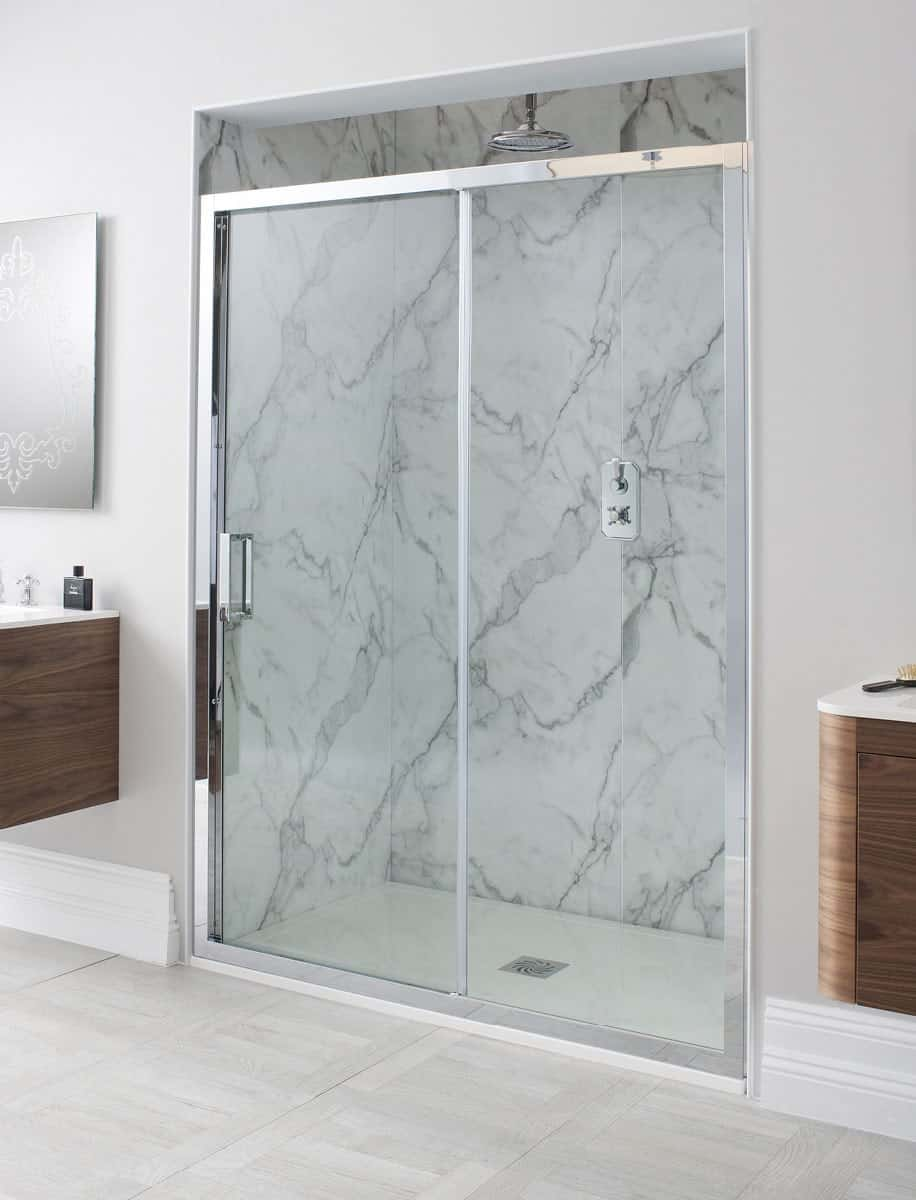 Details About Simpsons Crosswater Elite 1700mm Single Slider Shower Cubicle Door
