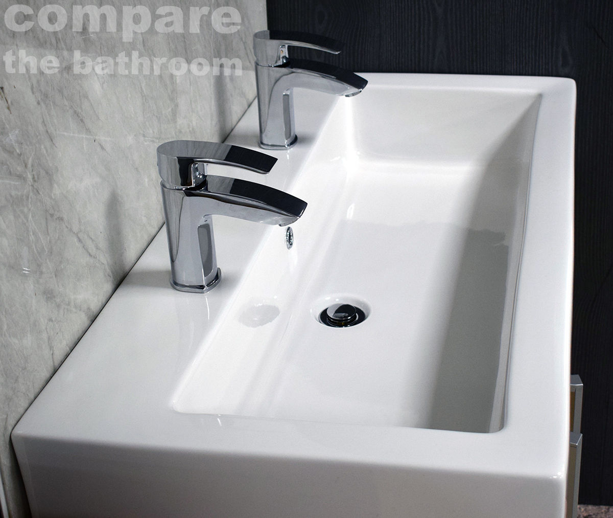 slab basin bathroom sink 2 tap his amp hers 13527