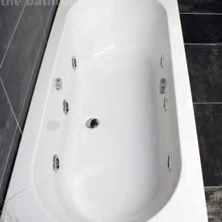1700-750mm-Double-Ended-Center-Tap-Hole-Whirlpool-Bath-Reinforced-Made-in-UK-331864505491