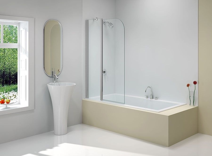 Merlyn Ionic Bathscreen Two Panel Curved Tewp