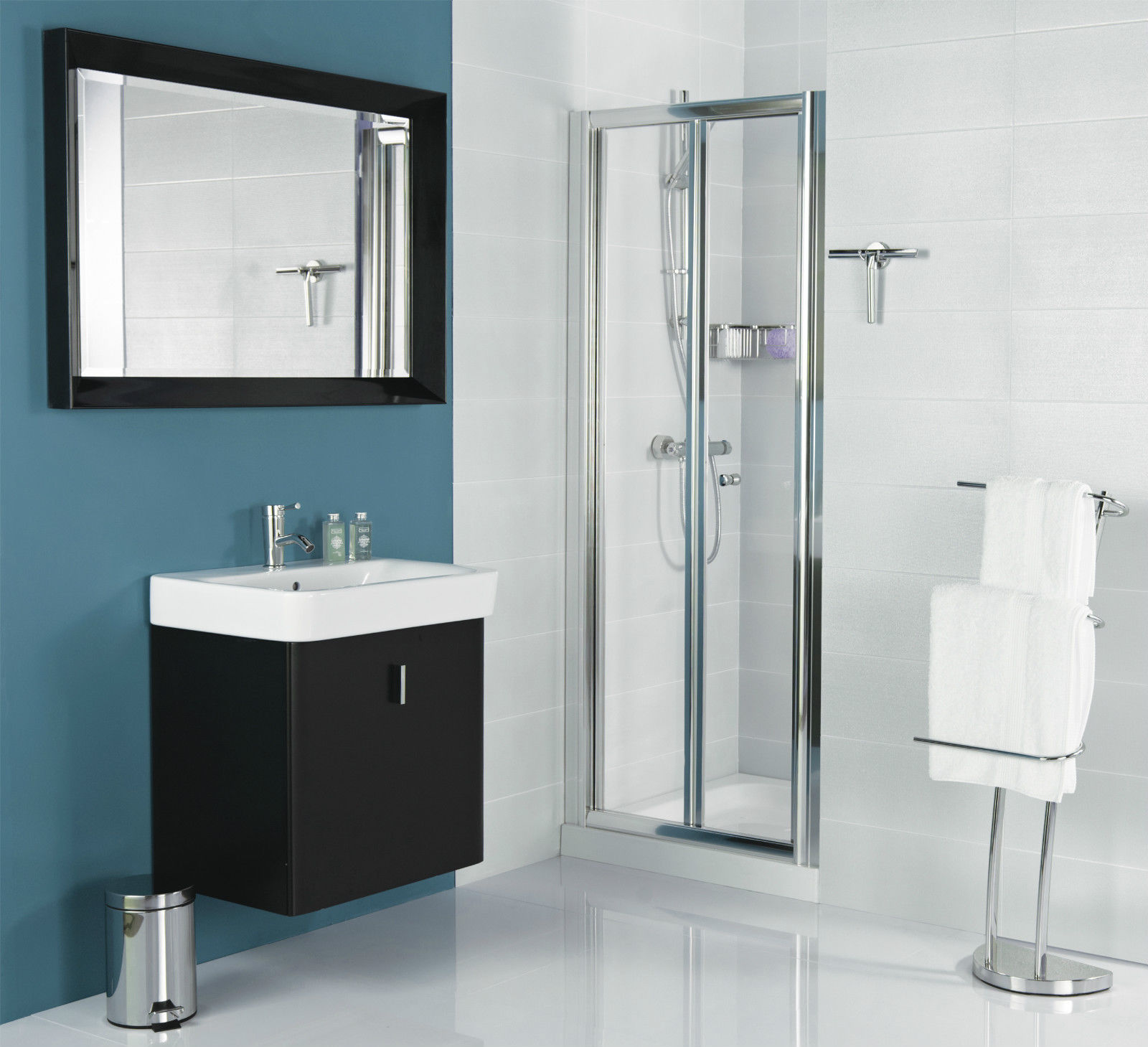Roman Haven Bi Fold Shower Door With Optional Side Panel