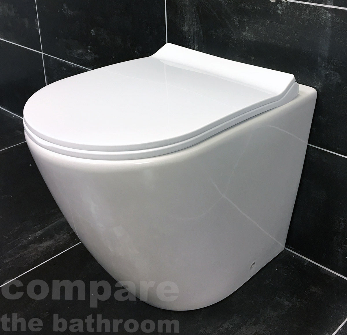 Rue Rimless Back To Wall Toilet Pan Inc Soft Close Seat Short Projection Modern 332321251022 Tewp