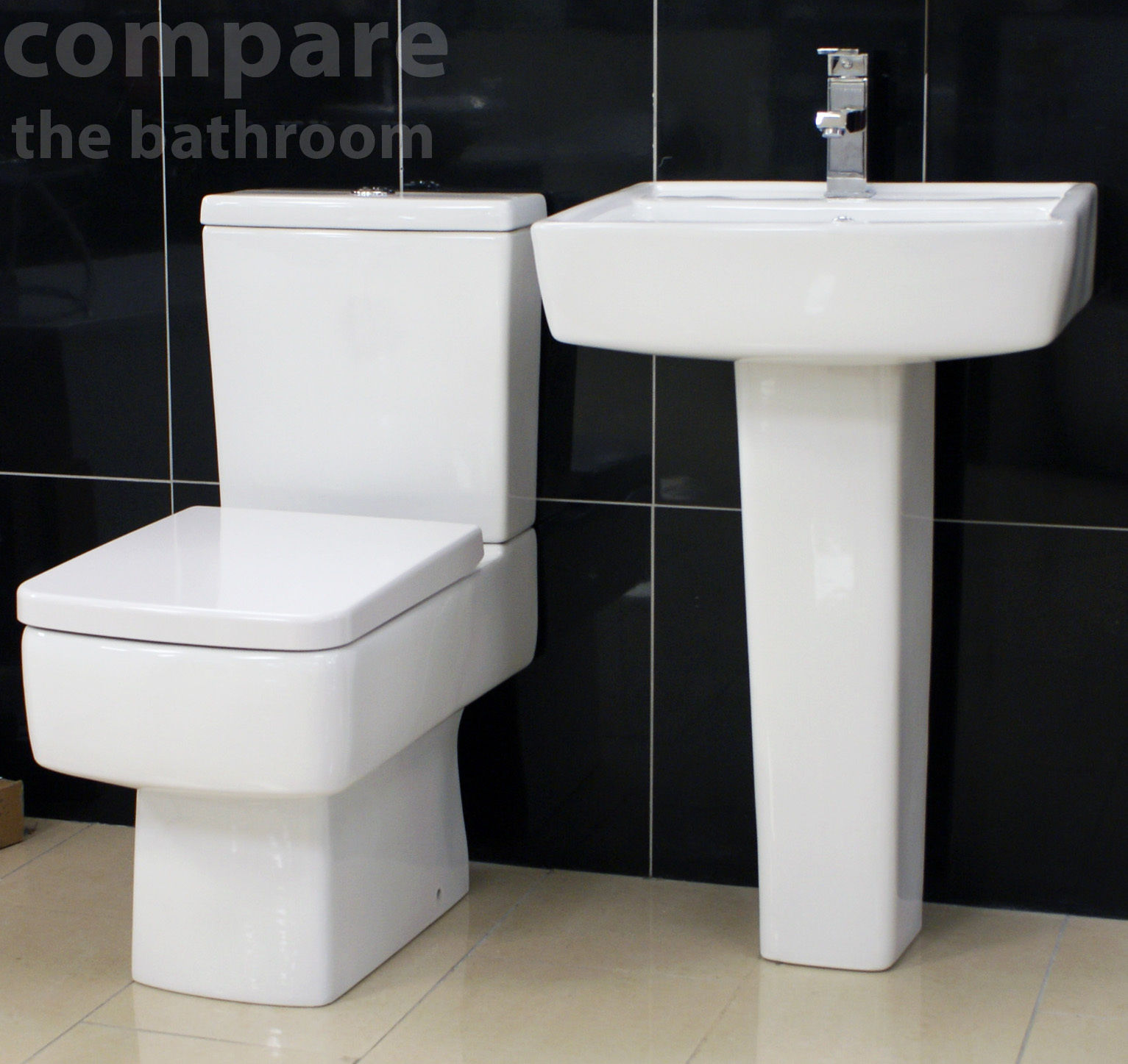 Diana art deco style bathroom suite basin sink toilet wc for Bath toilet and sink sets