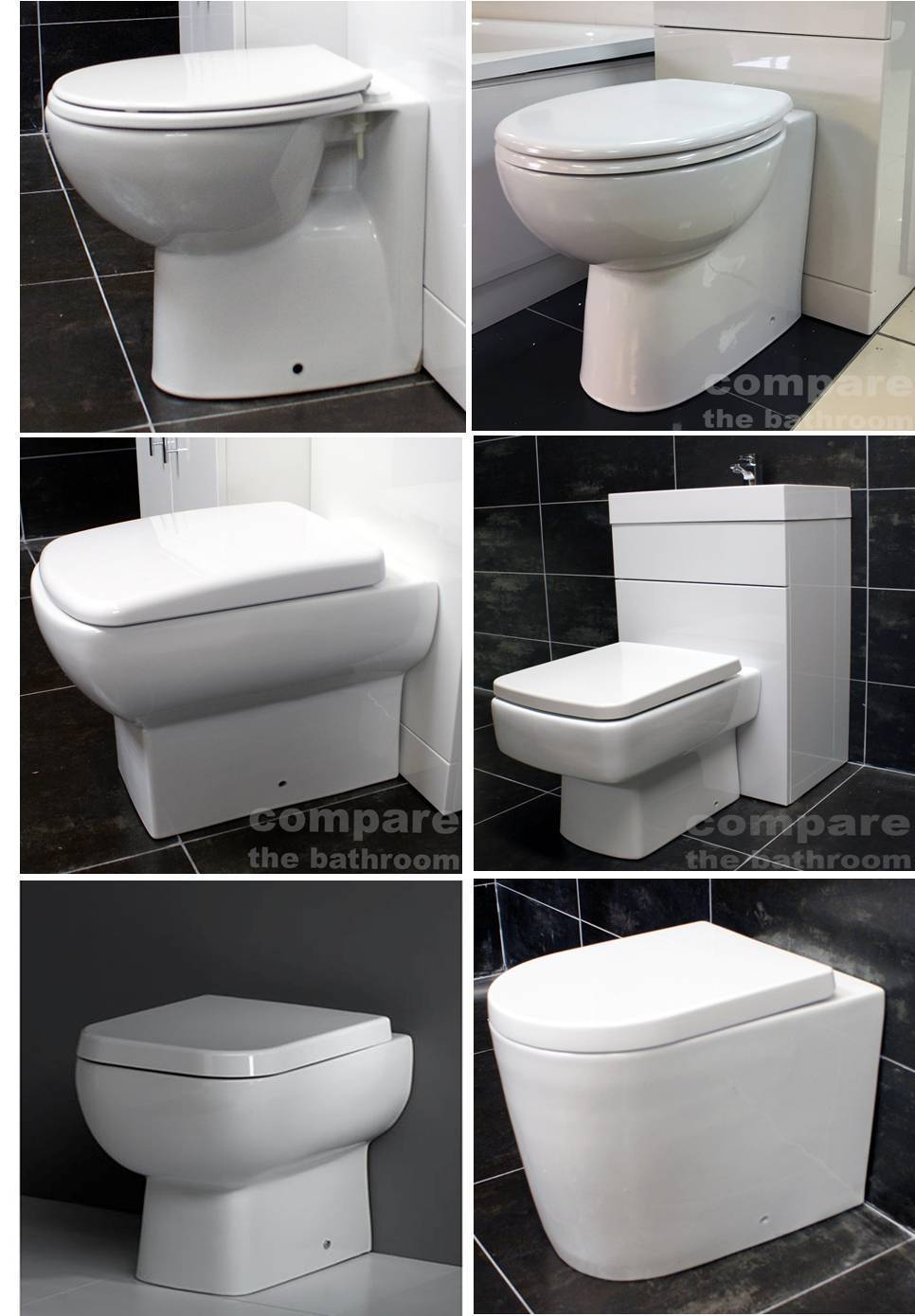 back to wall toilet pan selection all including seat wc square round modern 222482127224 tewp. Black Bedroom Furniture Sets. Home Design Ideas