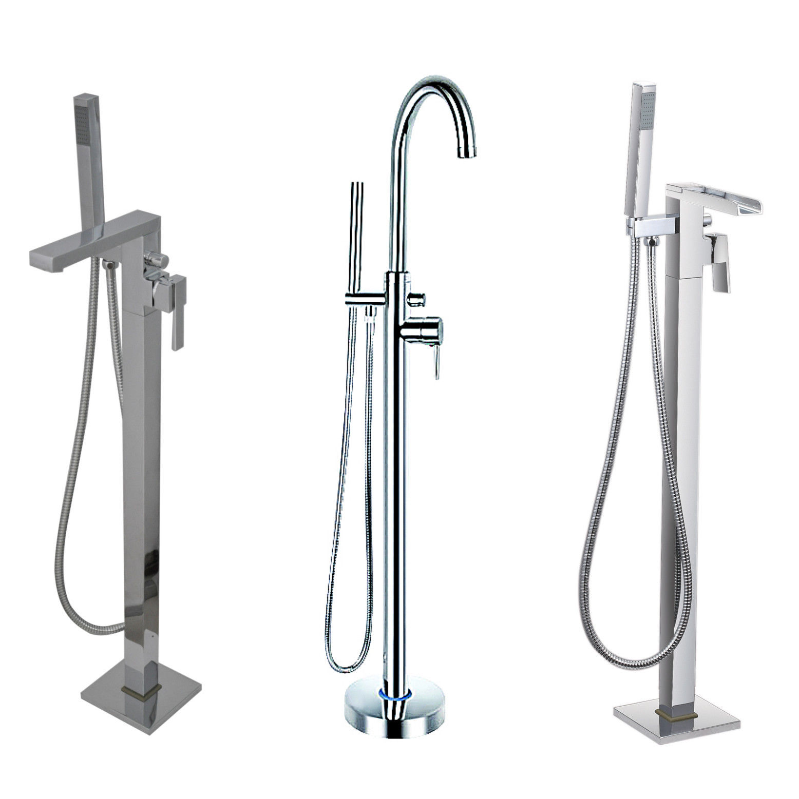 Floor Standing Bath Shower Mixer Tap for use with Freestanding ...