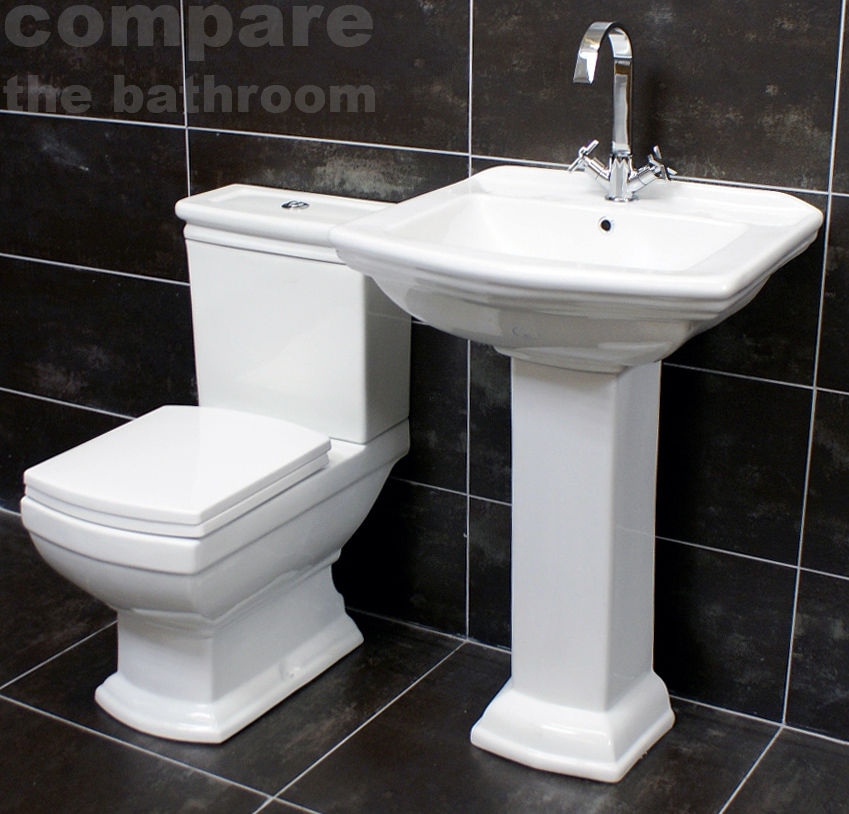 Harriet Art Deco Style Basin Toilet Set Bathroom Suite