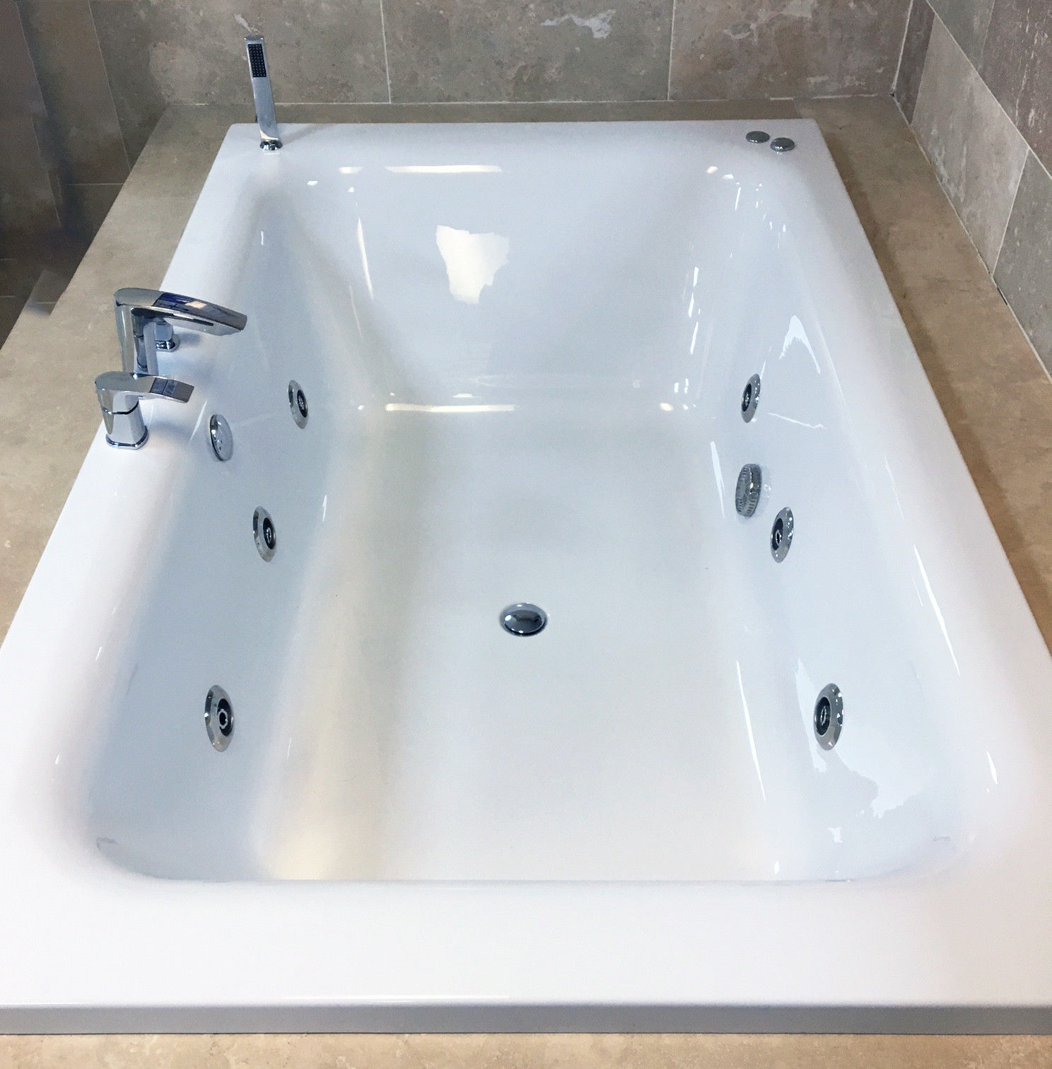 Olena 1900 x 1200mm Luxury Large Bath+ Whirlpool Jacuzzi Type Spa ...