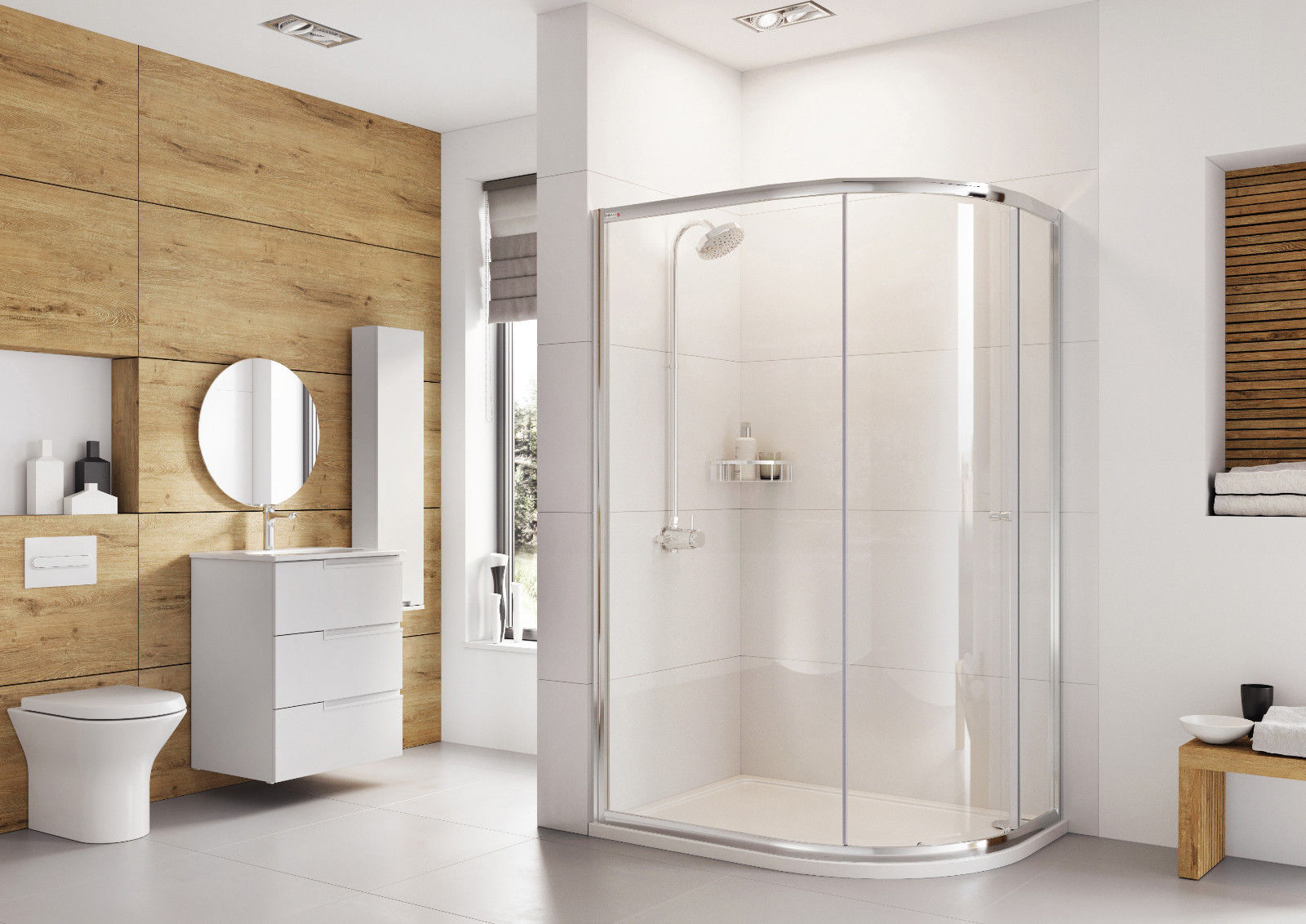 Roman Haven One Door Offset Quadrant Shower Cubicle Enclosure | eBay