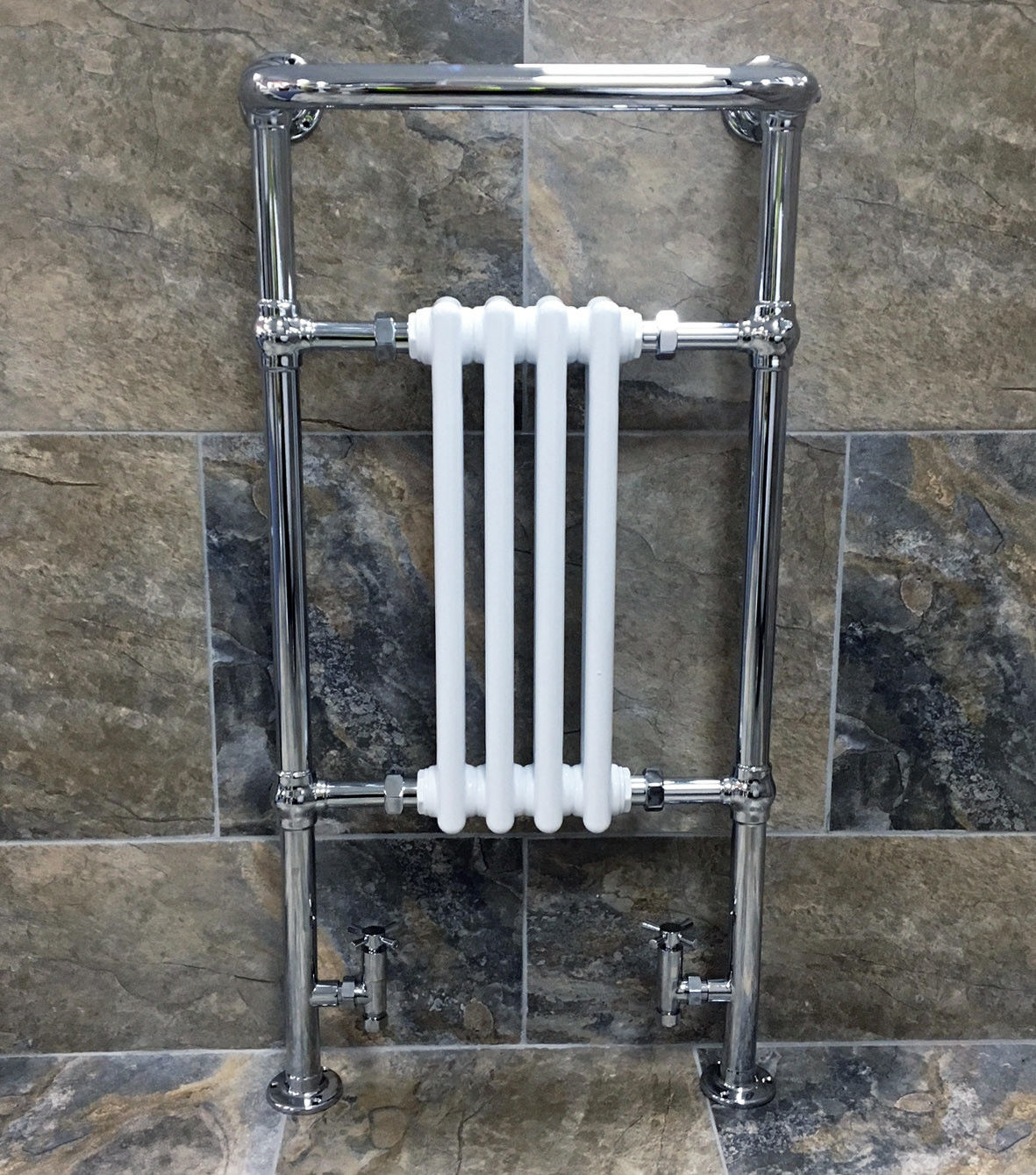 Small Traditional Heated Towel Rail 963 X 493mm Ebay