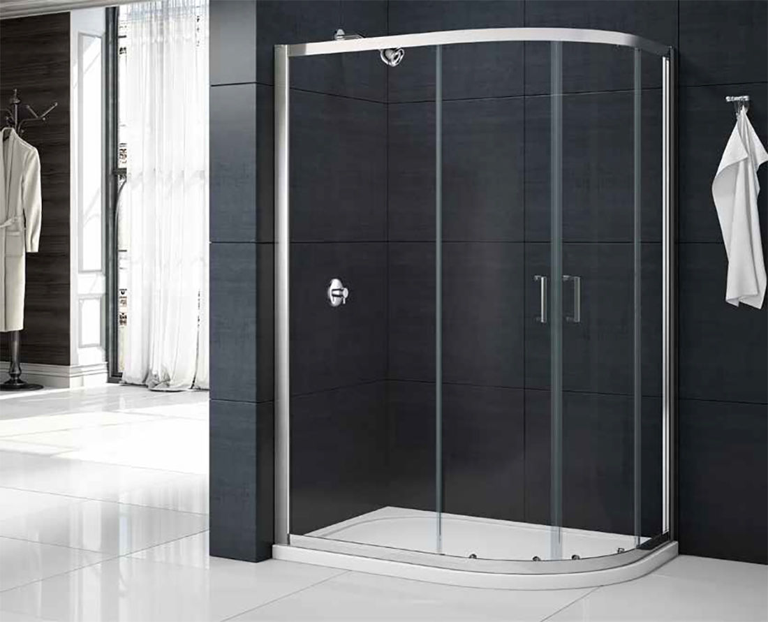 Merlyn Mbox Two Door Offset Quadrant Shower Cubicle Enclosure Tray