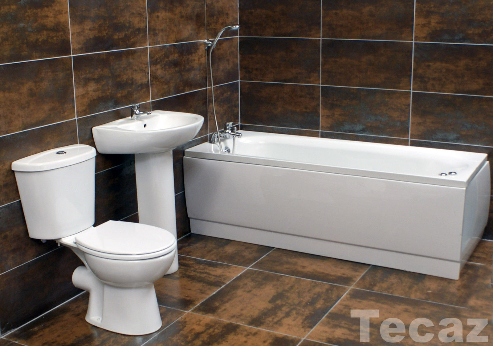 Complete bathroom suite with basin toilet set taps choice for Entire bathroom sets