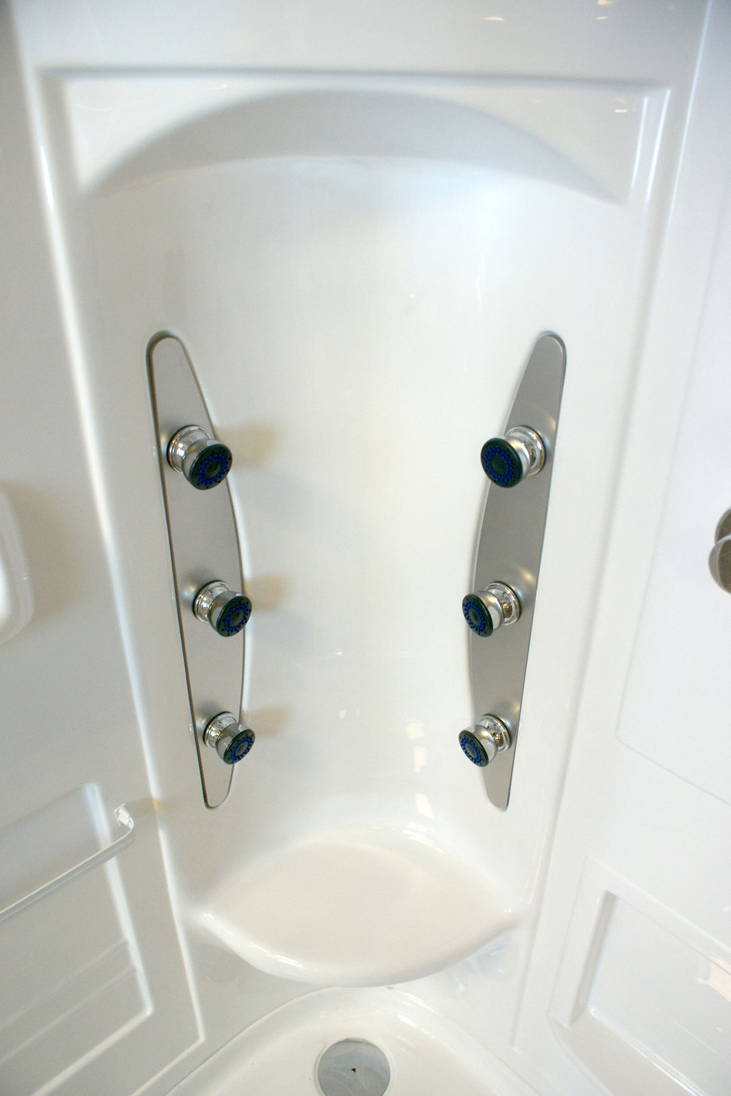 Crystal luxury hydromassage non steam shower cabin cubicle enclosure white 221363240667 4 tewp - Luxury shower cubicles ...