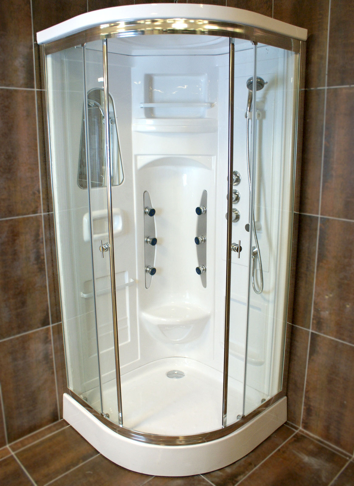 Crystal Luxury Hydromassage Non-Steam Shower Cabin Cubicle Enclosure ...