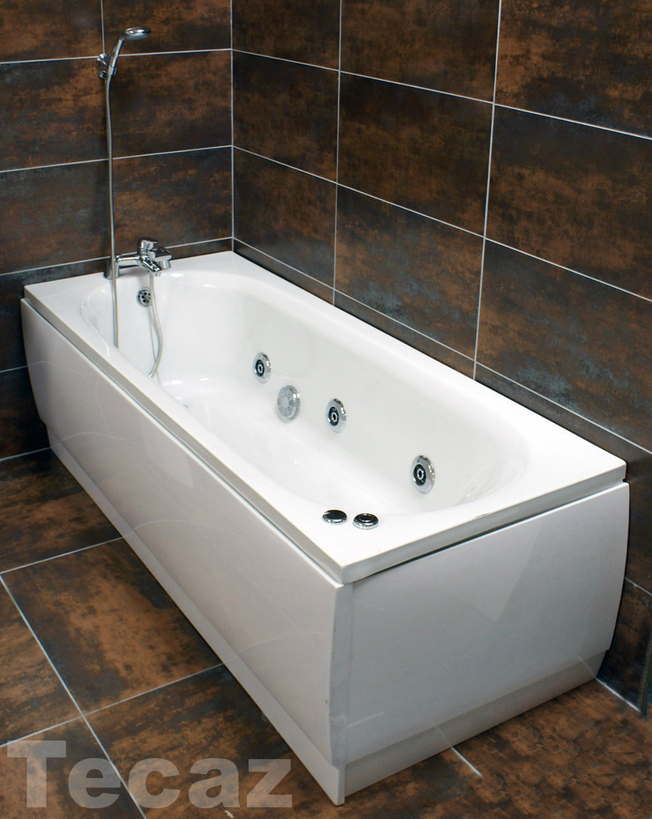 Montecarlo Whirlpool Bath With 6 Jet Jacuzzi Type Spa System 1700mm ...