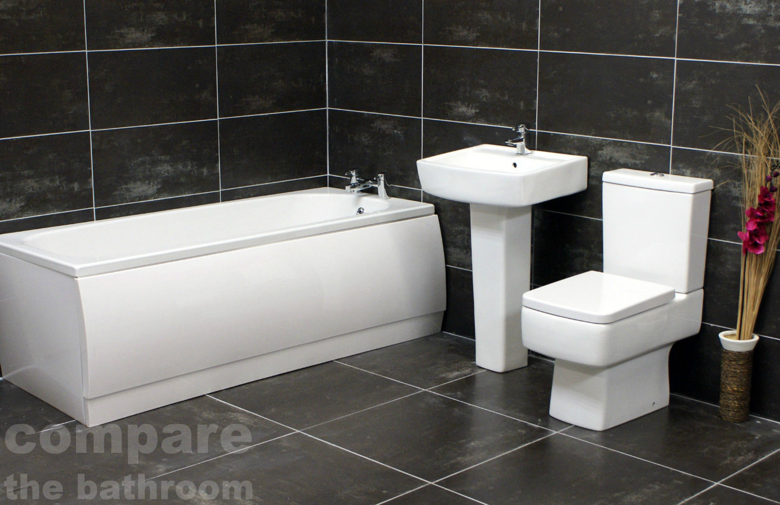 1500 1600 1680mm oder bathroom suite square basin toilet for 1600 bath suite