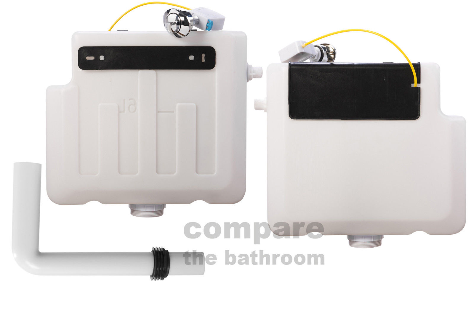 Concealed Cistern Dual Flush With Chrome Push Button 10