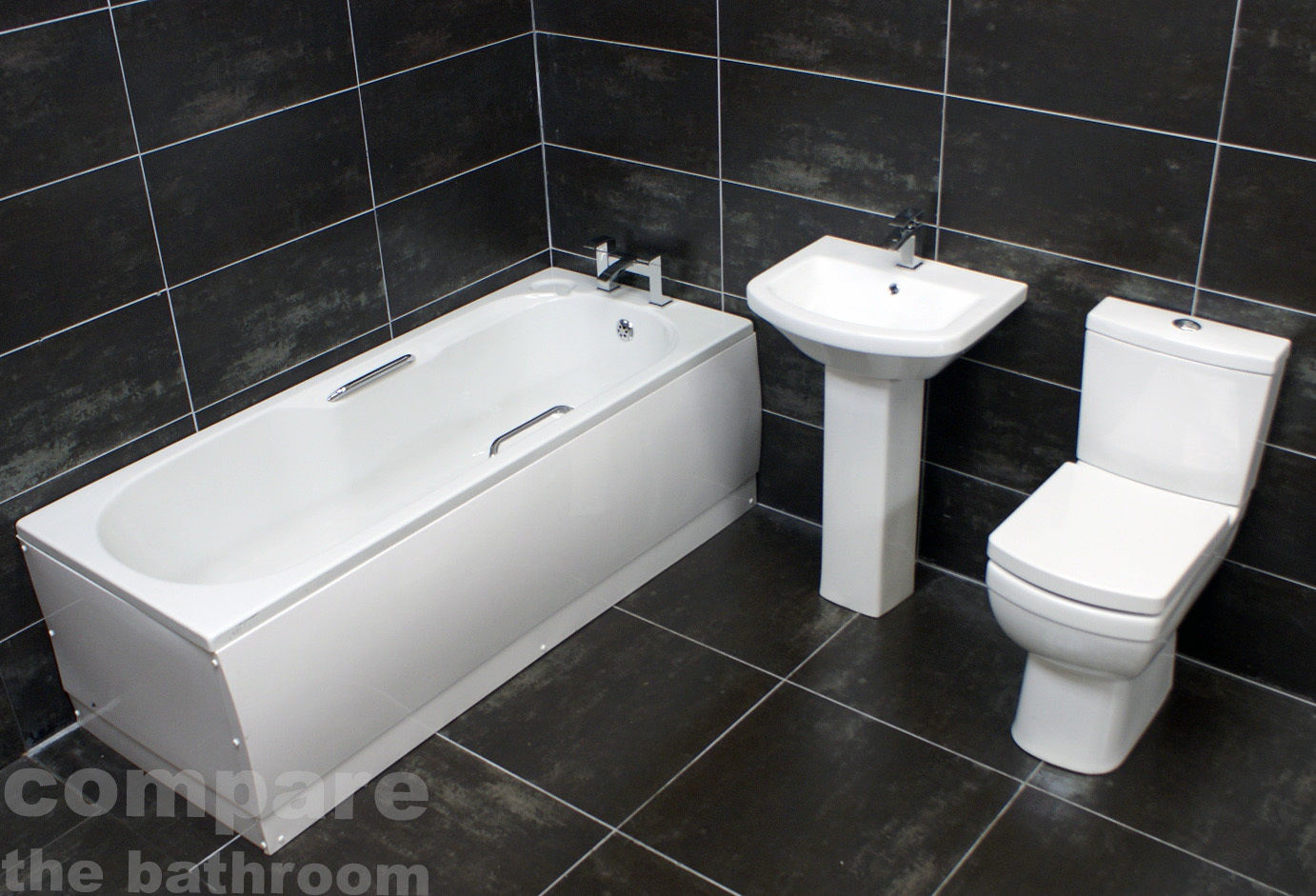 Brilliant Details About Easy Access Bathroom Suite Bath With Grips Comfort Height Tall Toilet Basin Camellatalisay Diy Chair Ideas Camellatalisaycom