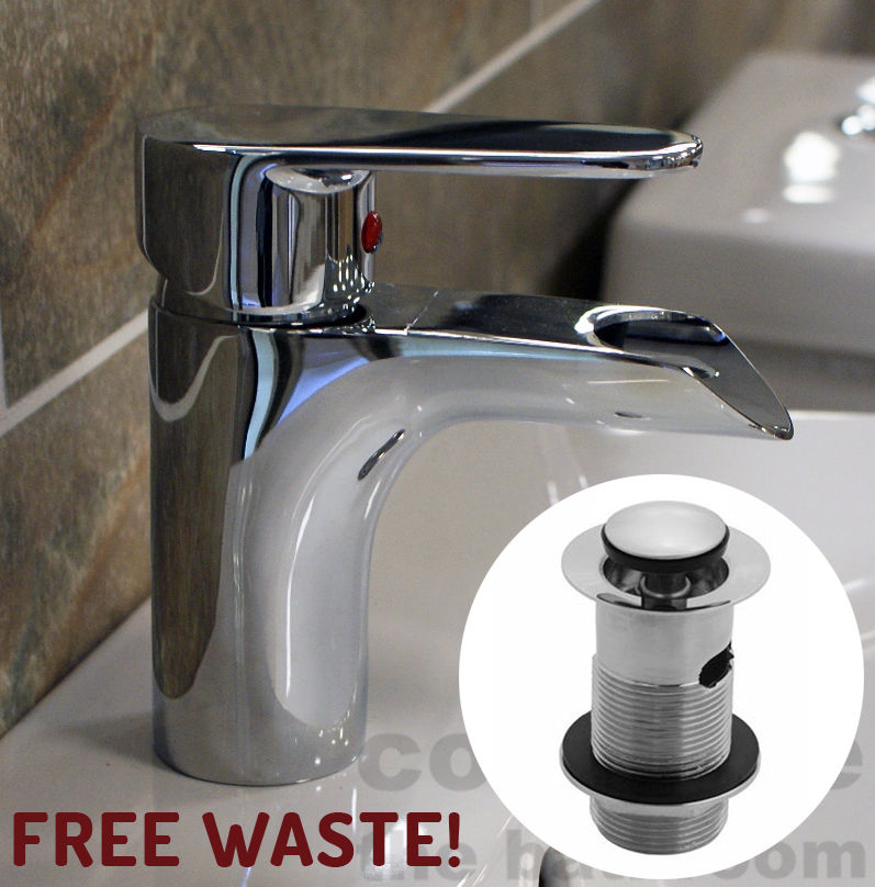cheap basin mixer mono tap waterfall bathroom cloakroom sink faucet free waste ebay. Black Bedroom Furniture Sets. Home Design Ideas