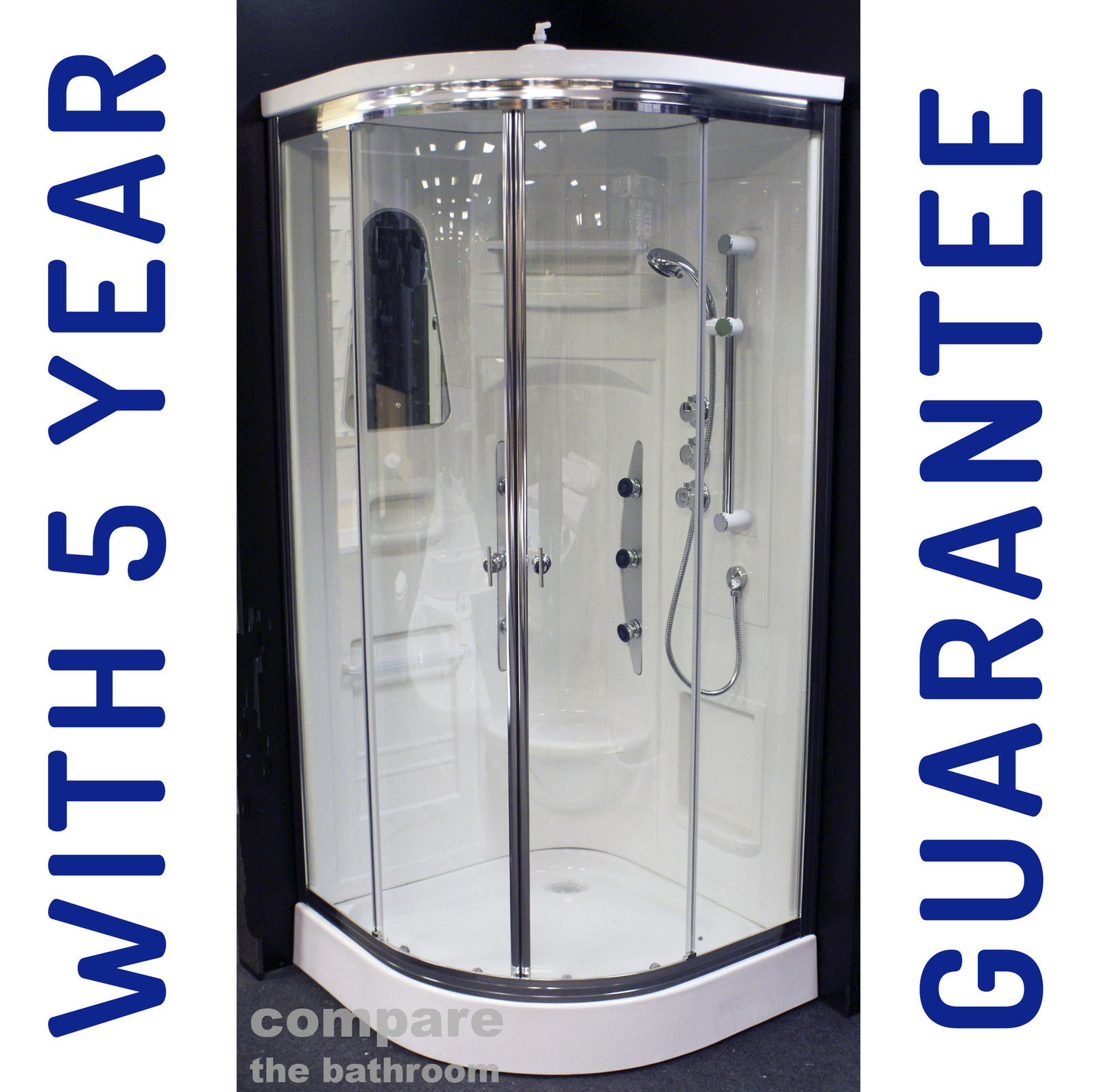 Shower Enclosure Cubicle Cabin Cubicle With Body Jets / Non Steam No ...