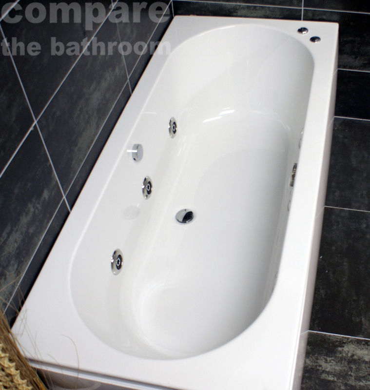 1700x750mm or 1700x800mm Double Ended Acrylic Bath + Whirlpool ...